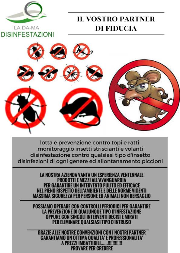 manifesto di disinfestazione e deratizzazione
