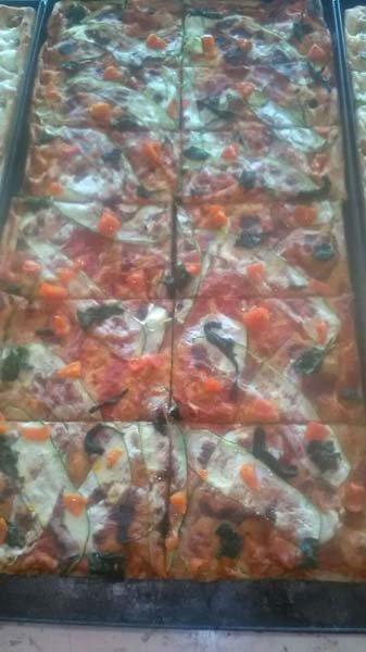 pizze di diversi formati