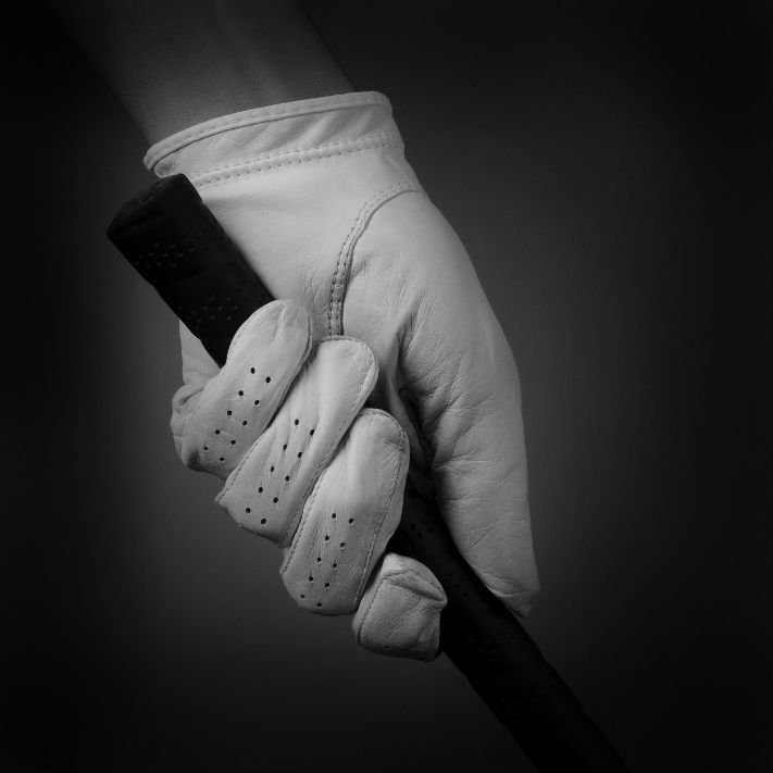 golf club and glove