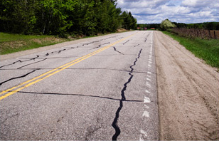 Pavement cracks for asphalt maintenance in Edwards, CO