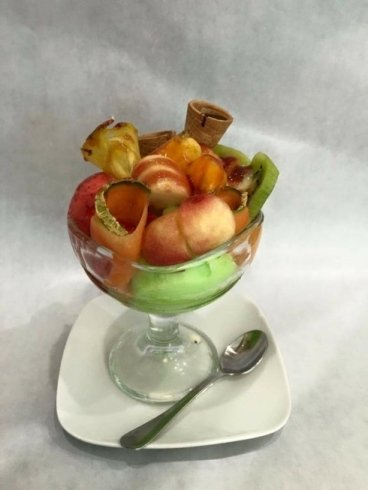 coppa frutta e gelato