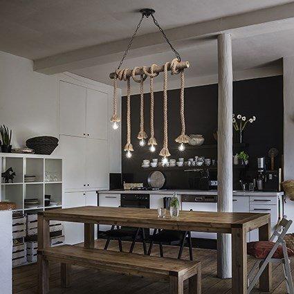 illuminazione interni lampadario cucina