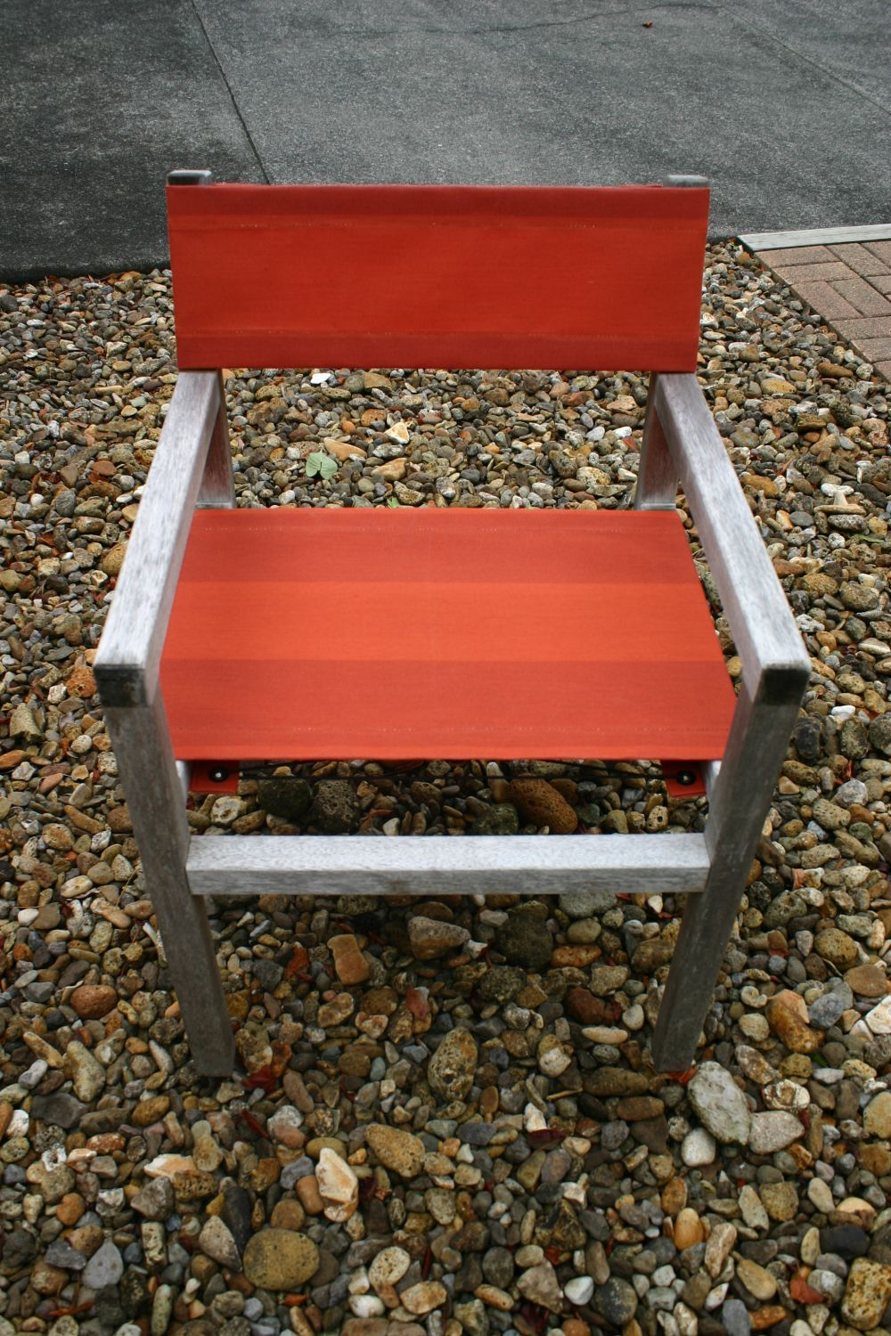 1/9 Devon chair recovered in Planosol Lumera Gobi canvas