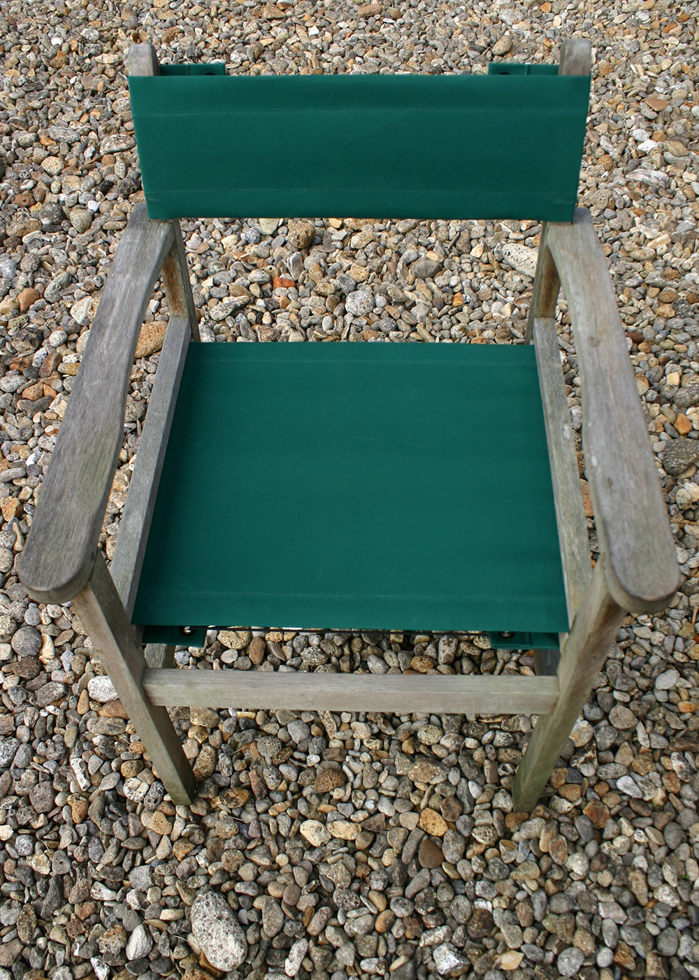 4/9 Chair recovered in Planosol Fir Green canvas