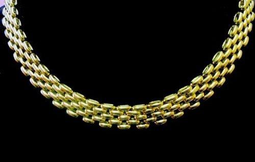 collier in oro a maglie fitte