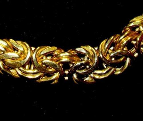 braccialetto d'oro a maglie fitte