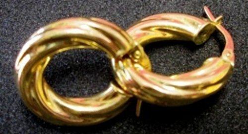 orecchini ad anello d'oro