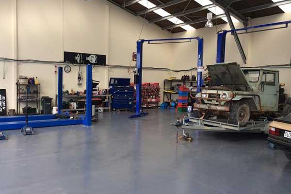 Interior view of garage