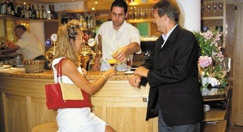 Ospitalità del servizio bar.