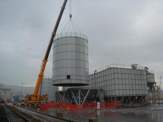 Blocco impianto in costruzione
