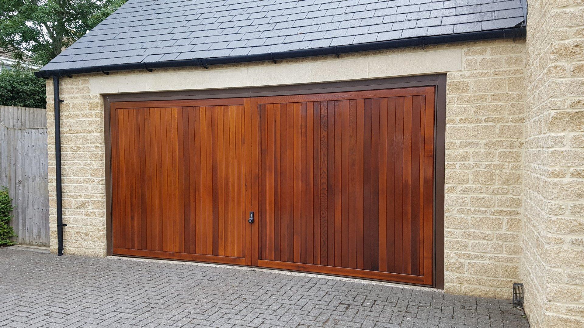 Complete Exterior Renovation Of Double Garage Door