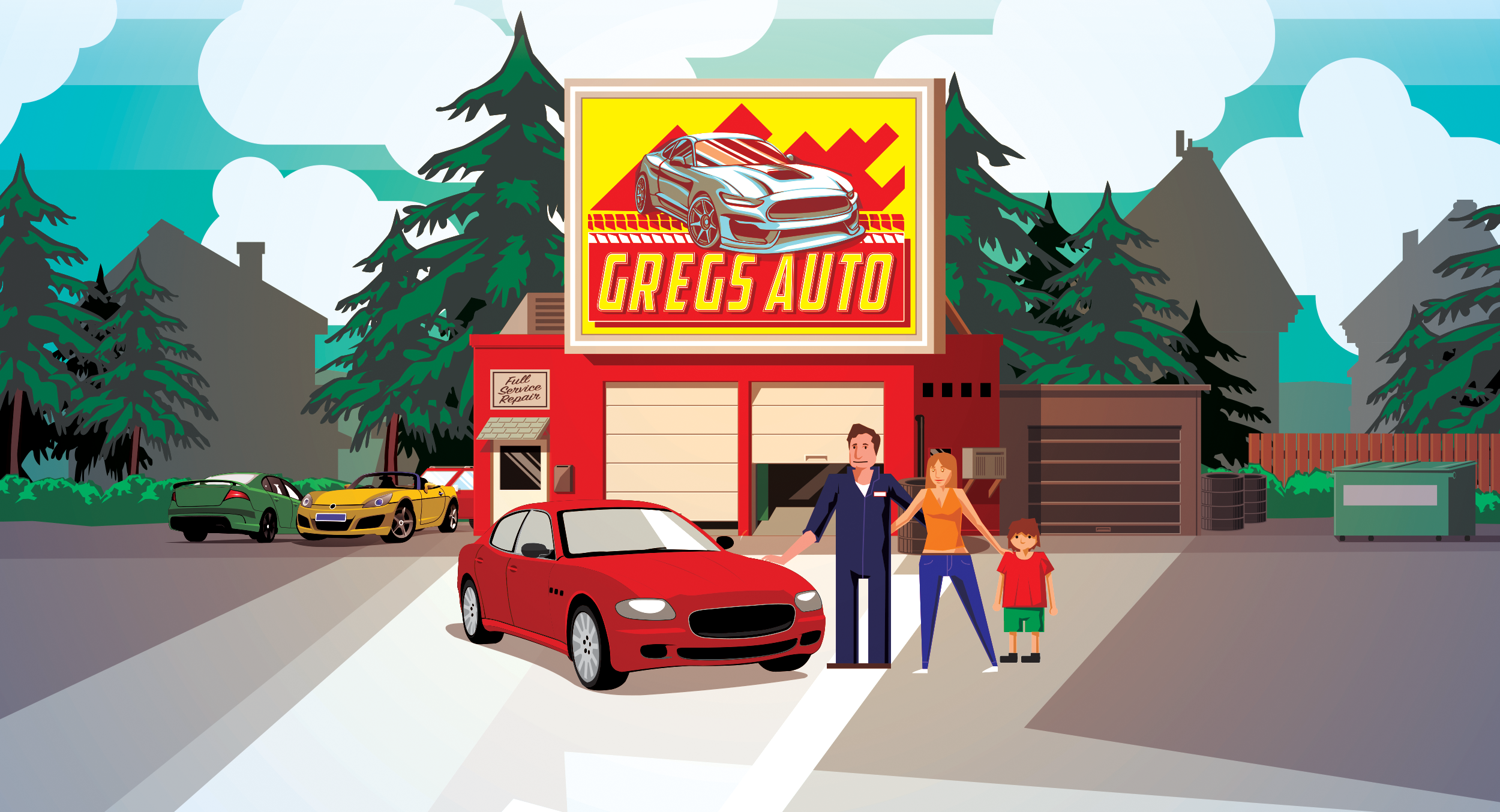 Greg's Auto Repair in Lyndonville, Vermont.