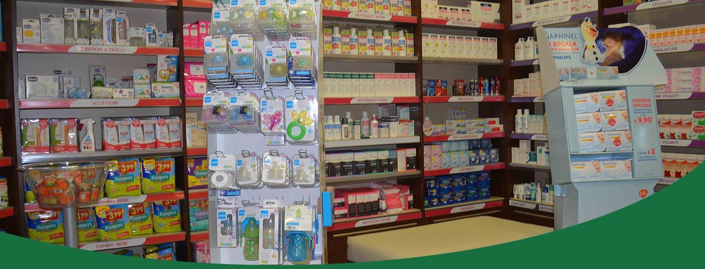 Interni della farmacia Fides