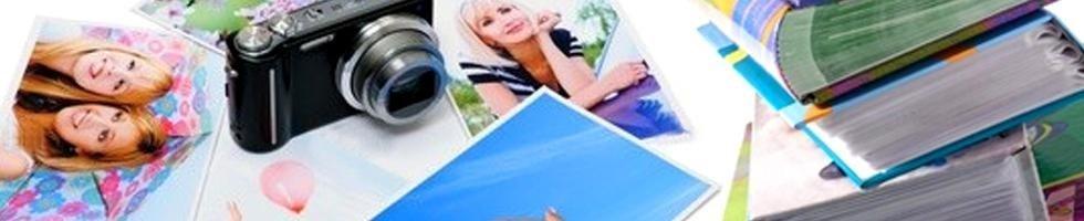 Macchina e album fotografici