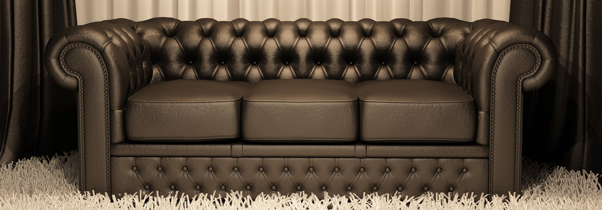 Three seater black sofaa