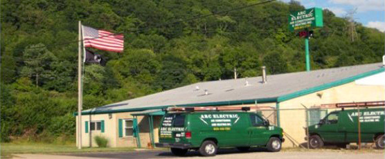 Main offices and vans of Arc Electric of Wilder, KY