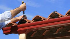 riscaldamento industriale, tetto, canale di scolo