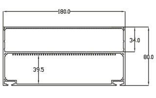 0002837 profilo in alluminio 180x80mm 2 metri