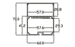 0002758 profilo in alluminio 60x70mm 3 metri