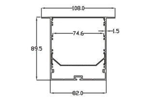0002842 profilo in alluminio 80x90mm 3 metri