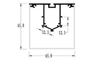 0002669 profilo in alluminio 65x65mm 2 metri