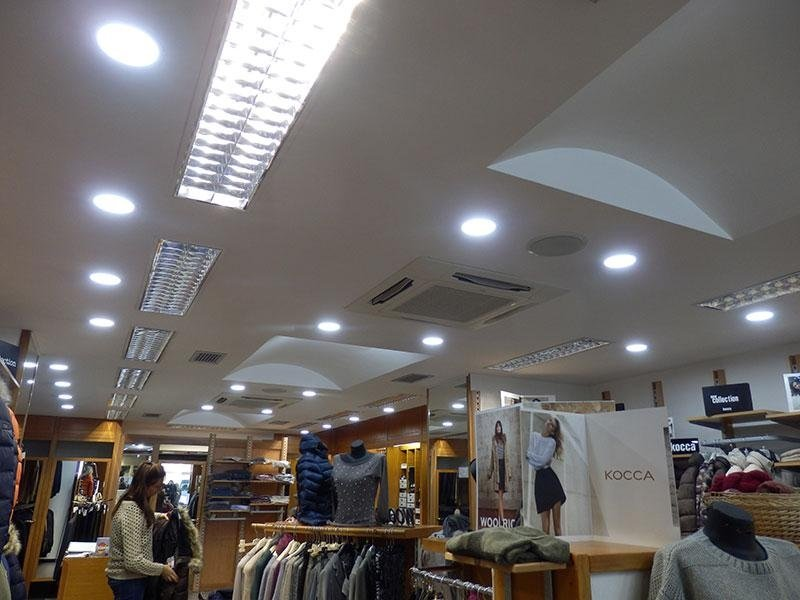 luci negozio