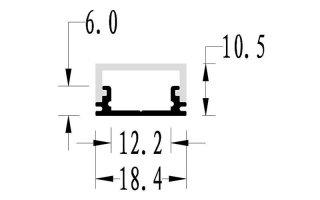 0002657 profilo in alluminio 19x11mm 2 metri