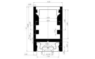 0002546 profilo in alluminio 9x15mm per strip 3528 con diffusore trasparente e base di fissaggio 2 metri