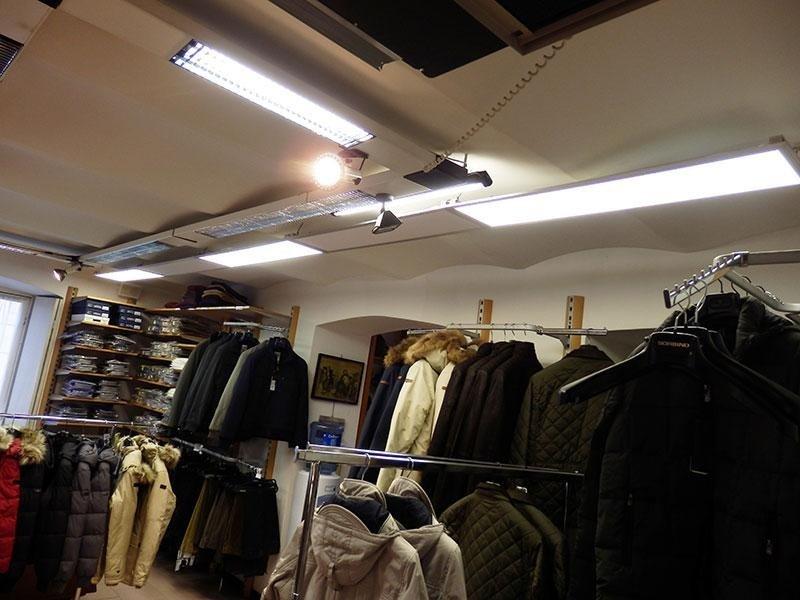 led negozio abbigliamento