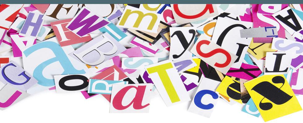 Caratteri in vari font