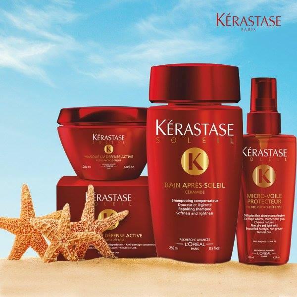 Prodotti per capelli del marchio Kerastase per l'estate