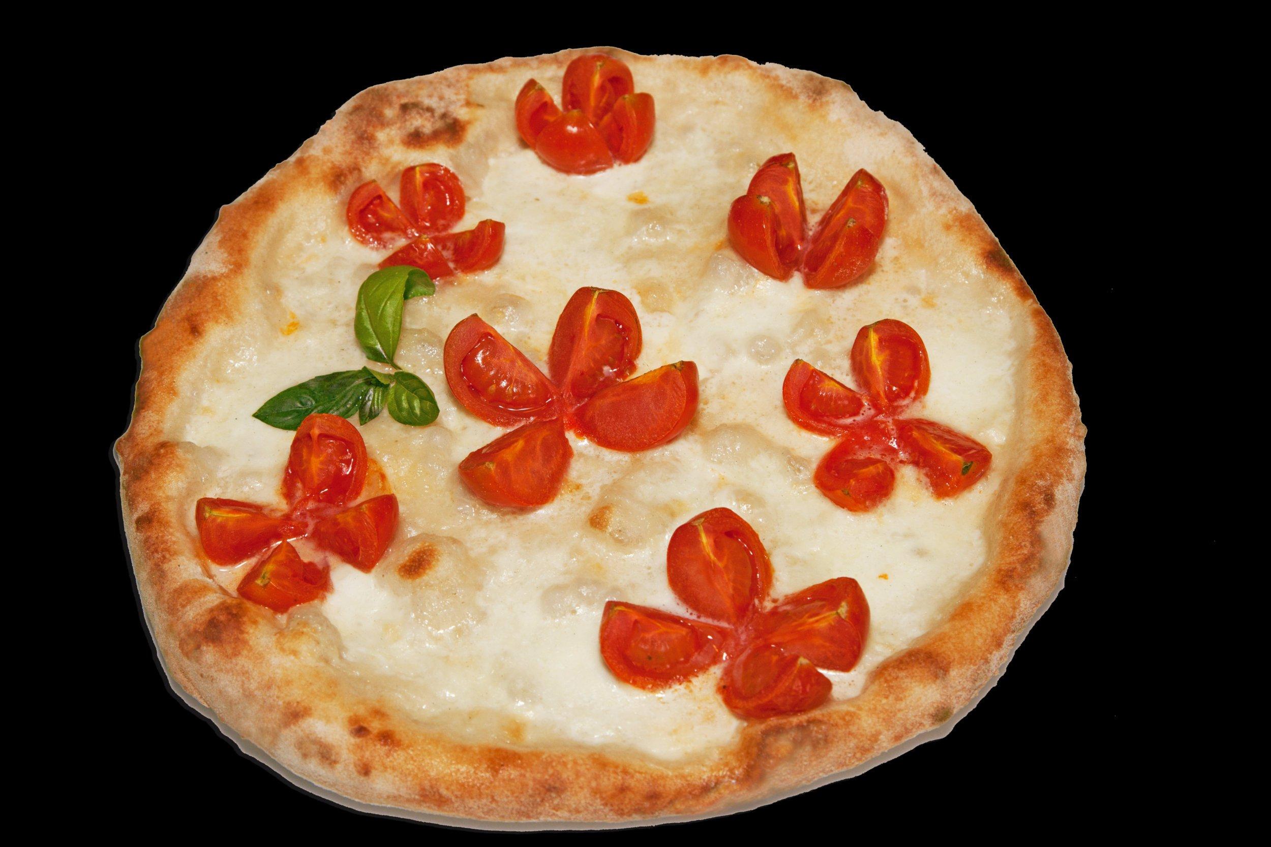 Pizza bianca con pomodorini