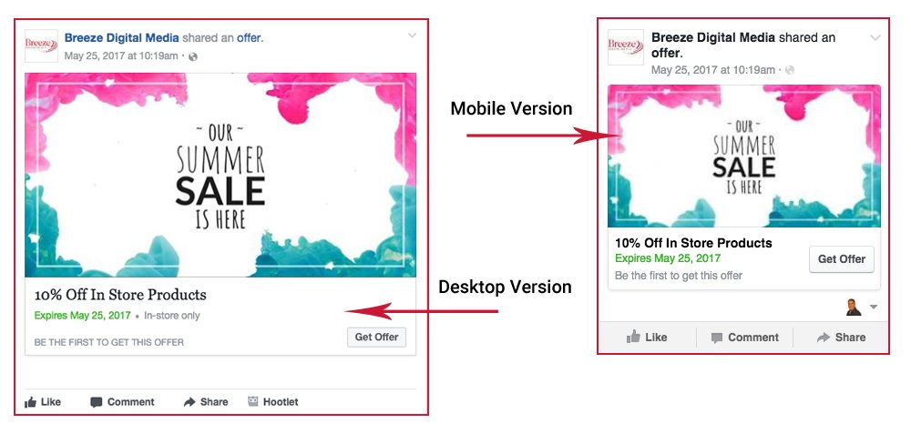 how to create facebook coupons offers