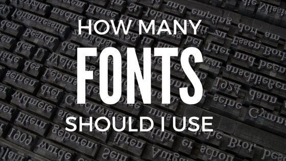how many fonts should i use on my website