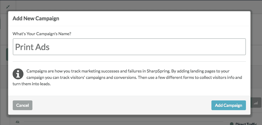 Add a new tracking campaign to your automation engine