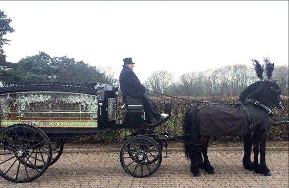 Horse-drawn hearses