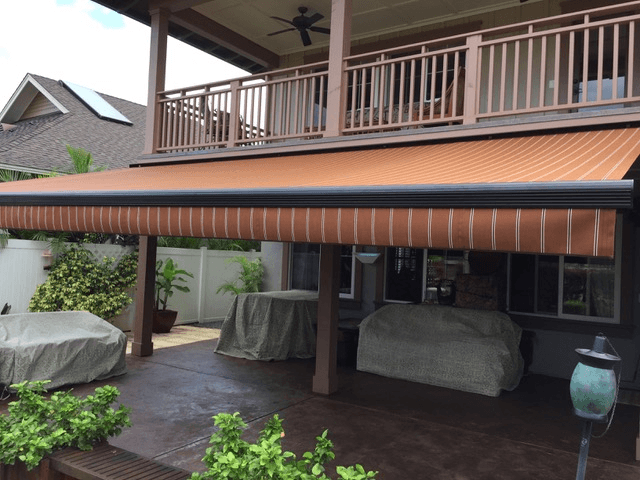 Stylish retractable awning