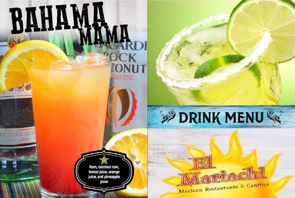 El Mariachi #2 drink menu
