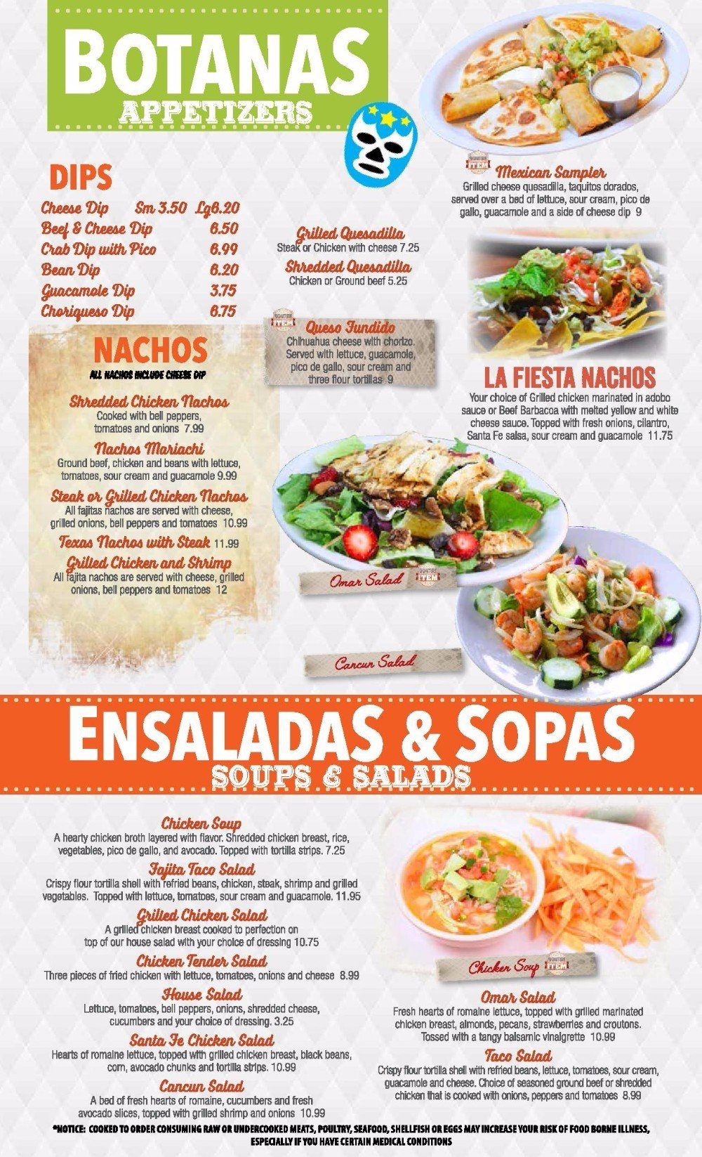 El Mariachi #2's Botanas appetizers