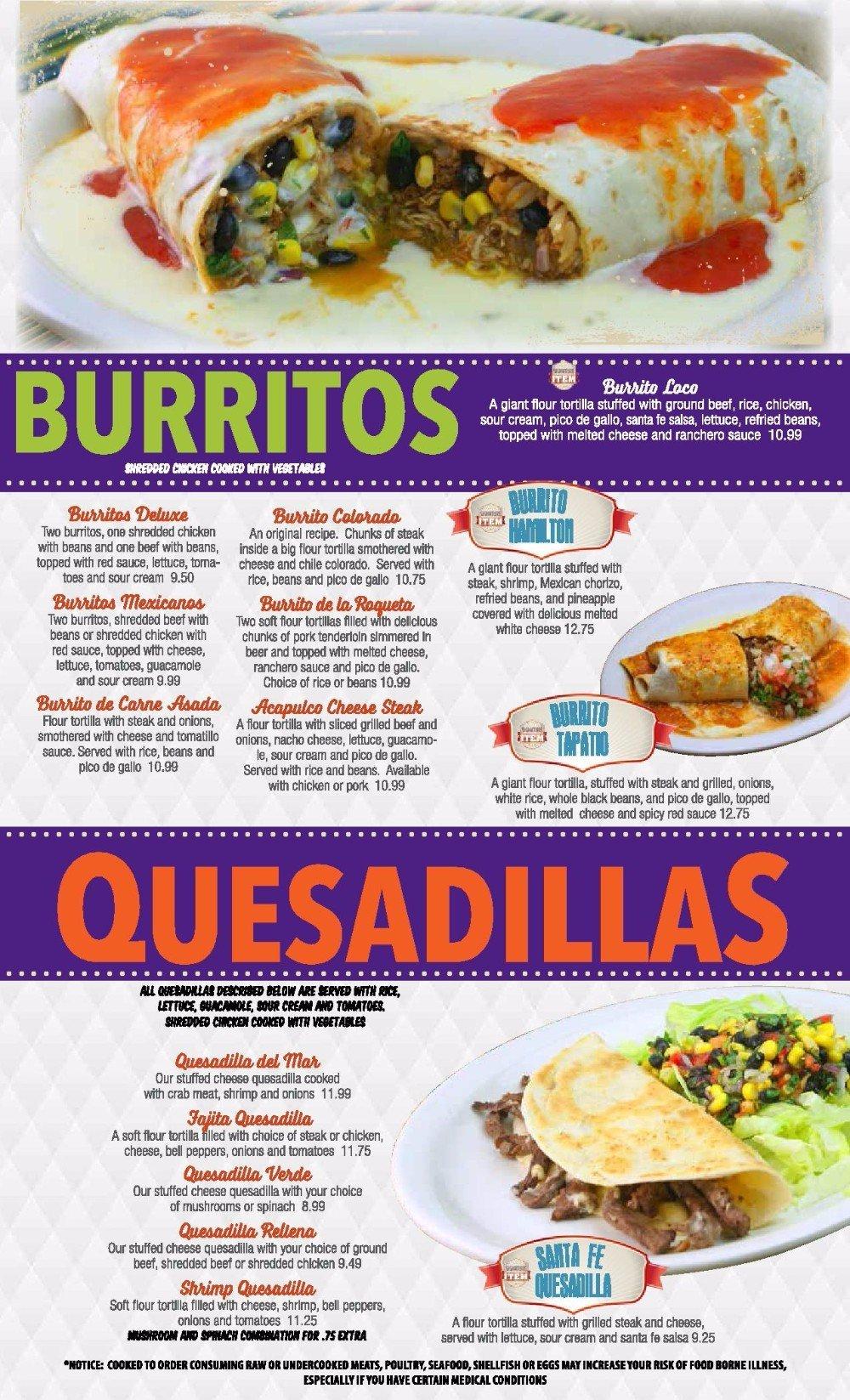 Burritos and Quesadillas