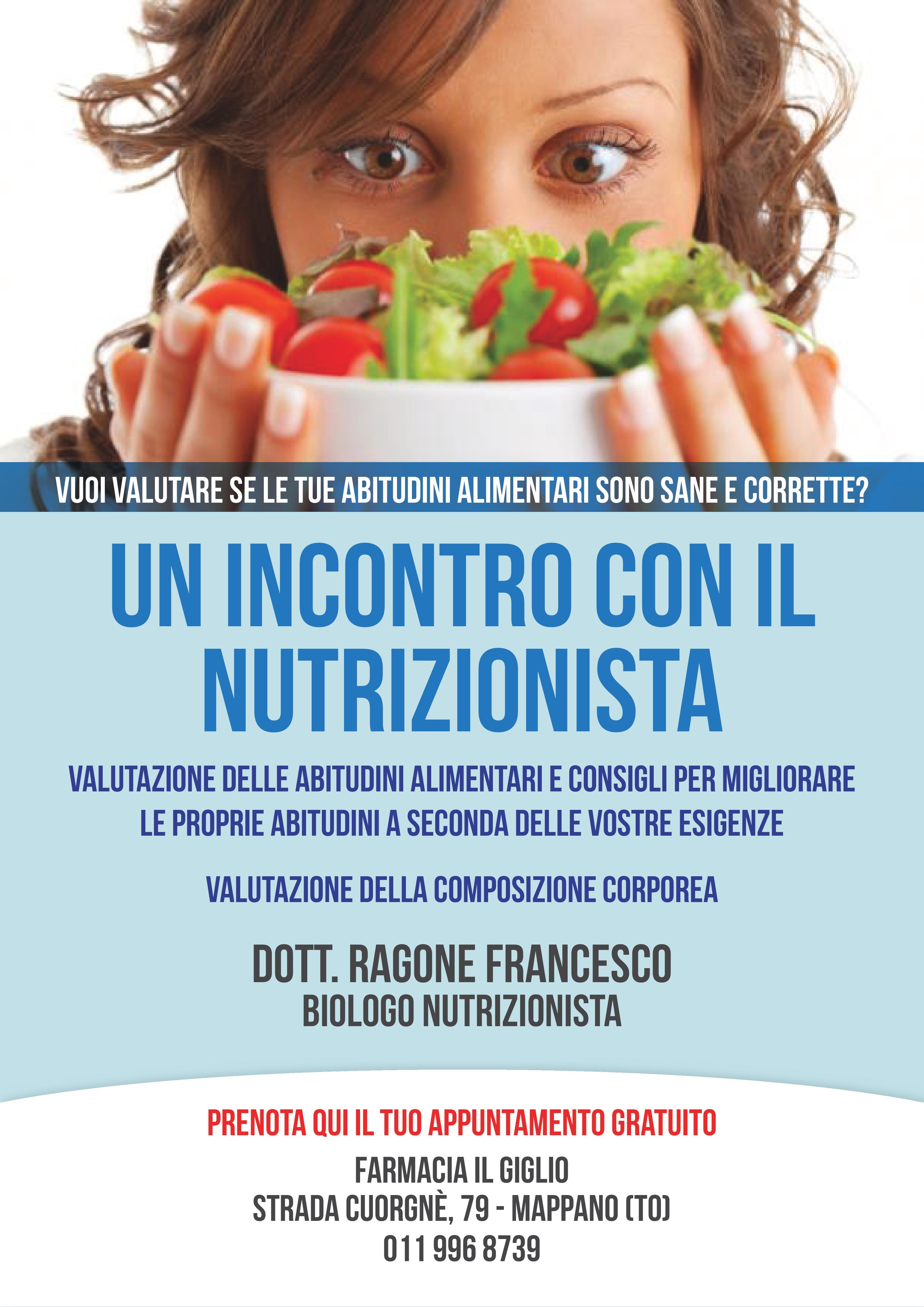 Incontro col nutrizionista a Caselle Torinese, TO