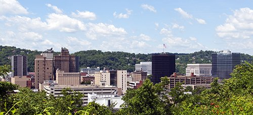 A view of the skyline of downtown Charleston, West Virginia