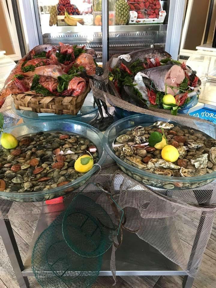 Prodotti freschi, carni ,pesci e vongole