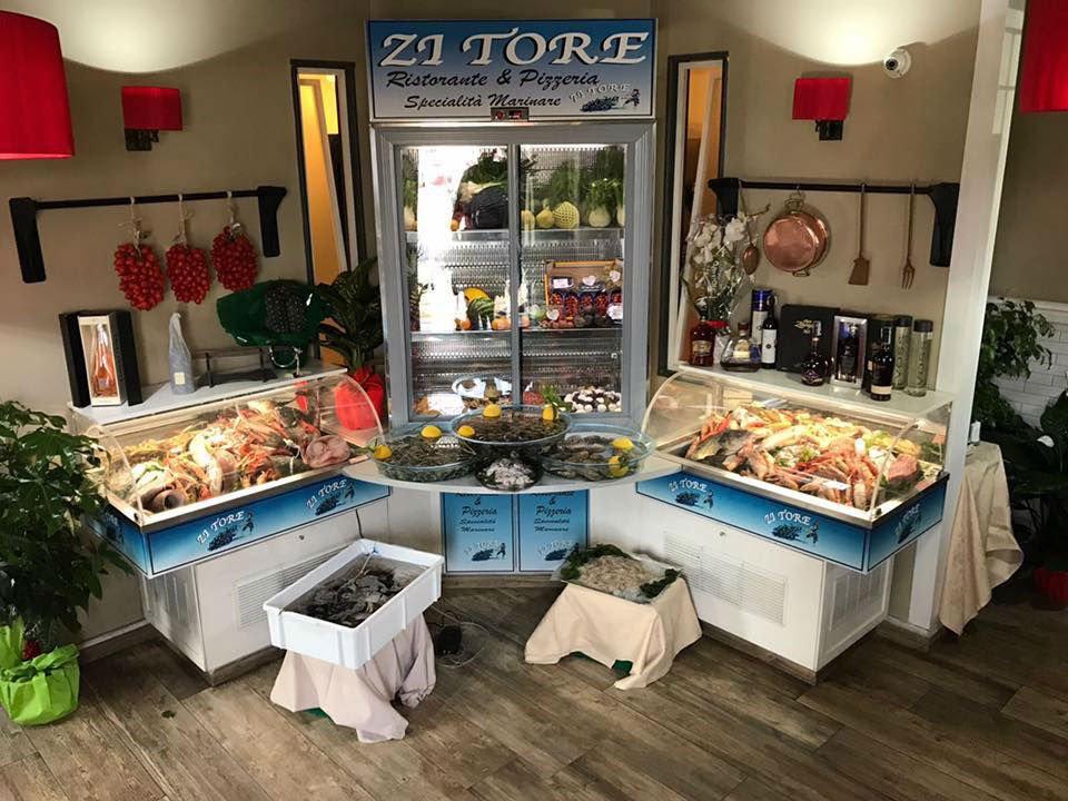Tutti i prodotti freschi in vista,carni,pesce e frutti di mare
