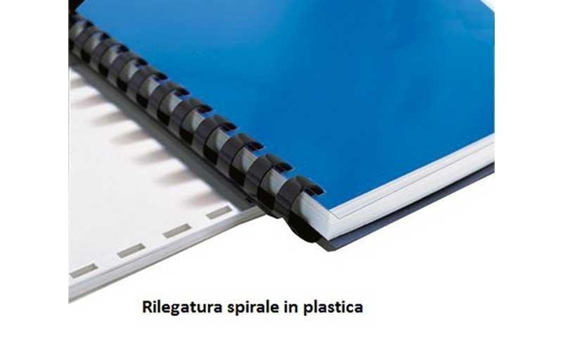 rilegatura spirale in plastica