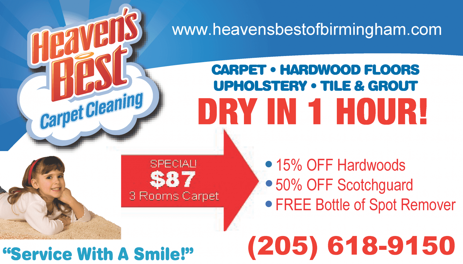 Heaven's Best Carpet Cleaning Special Deals