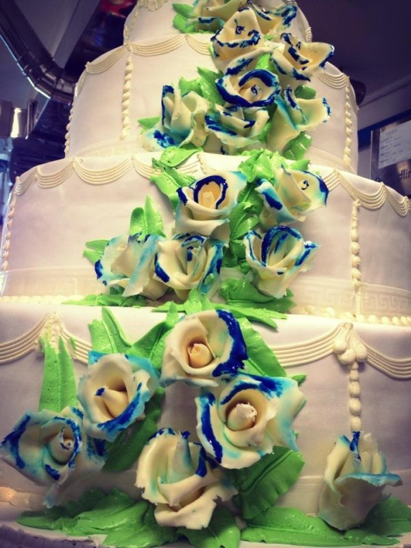 Torta nuziale floreale