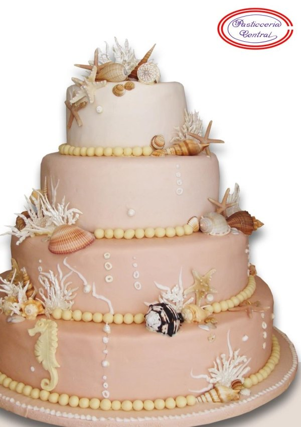 Torta nuziale marina