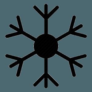 logo di un fiocco di neve nero