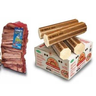 della legna da ardere e carbonella
